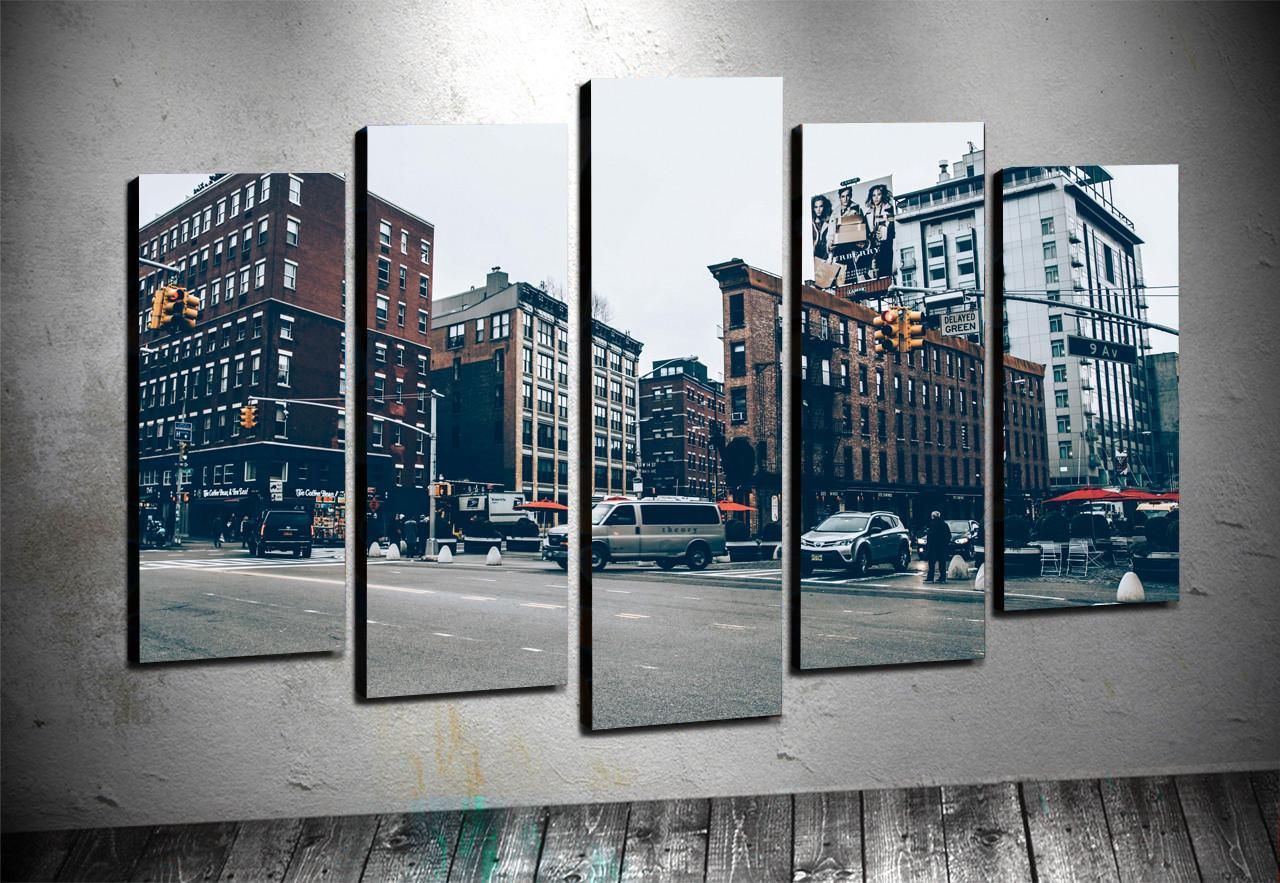 5 Parçalı Kanvas - New York