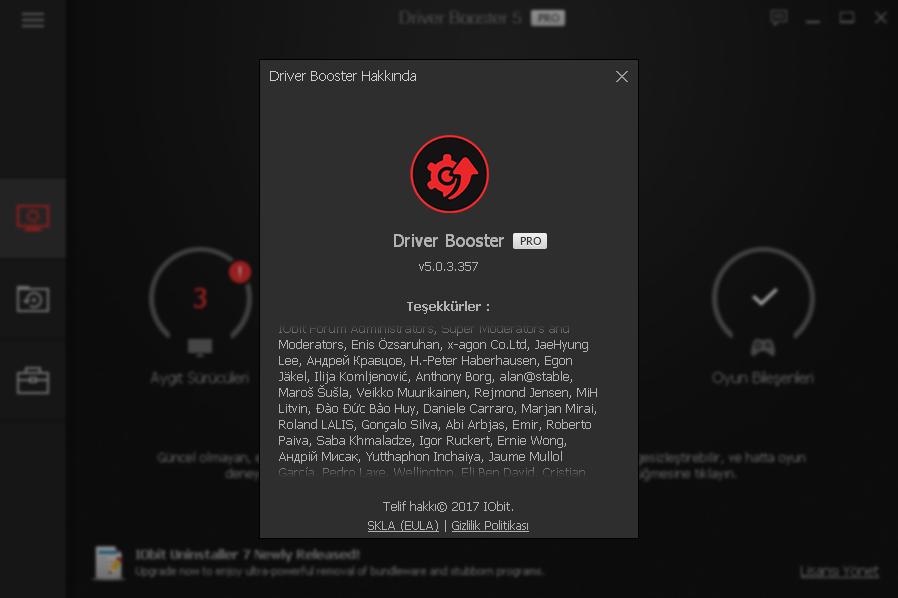 IObit Driver Booster Pro 5.0.3.393 | Katılımsız