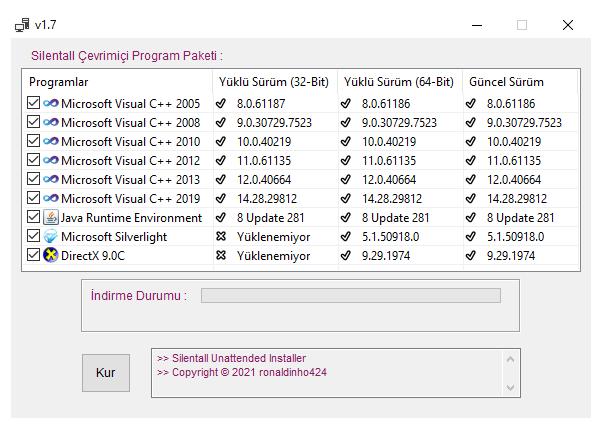 Silentall Çevrimiçi Program Paketi v1.7.0 cover