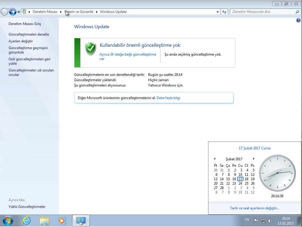 Windows 7 Ultimate SP1 32 Bit Mart 2017 Güncel Türkçe [OEM + ACT]