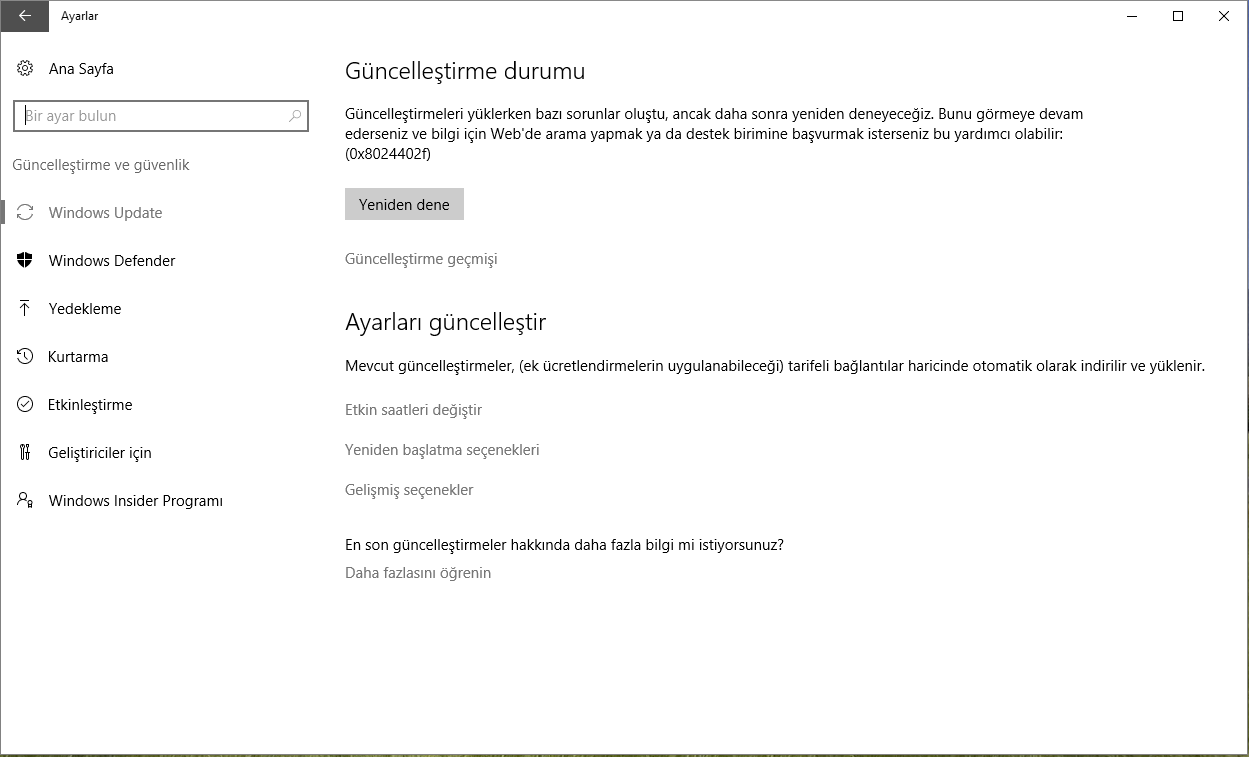 Windows Update Hata Kodu 0x8024402f Çözümü