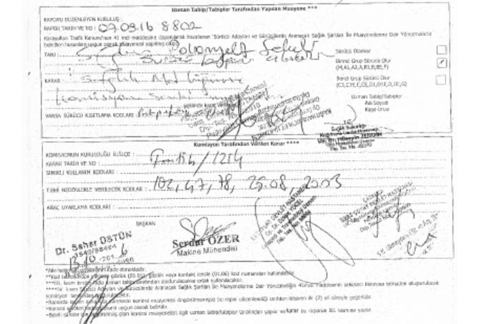 l3rZGp - H sınıfı sürücü belgesi ve ÖTV'siz araç alımı için rapor paylaşımları