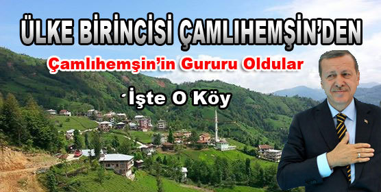 Se�imlerde T�rkiye Birincisi �aml�hem�in'den