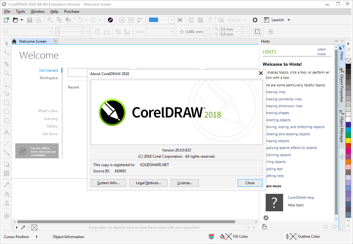 CorelDRAW Graphics Suite 2018 20.0.0.633 (x64) | Katılımsız