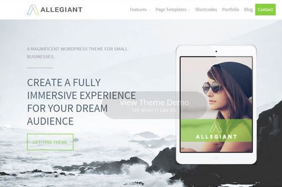 Allegiant free multi purpose WordPress Theme