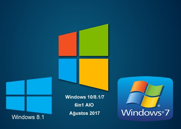Windows 10/8.1/7 6in1 AIO  x86.x64  Ağustos 2017 | Full İndir
