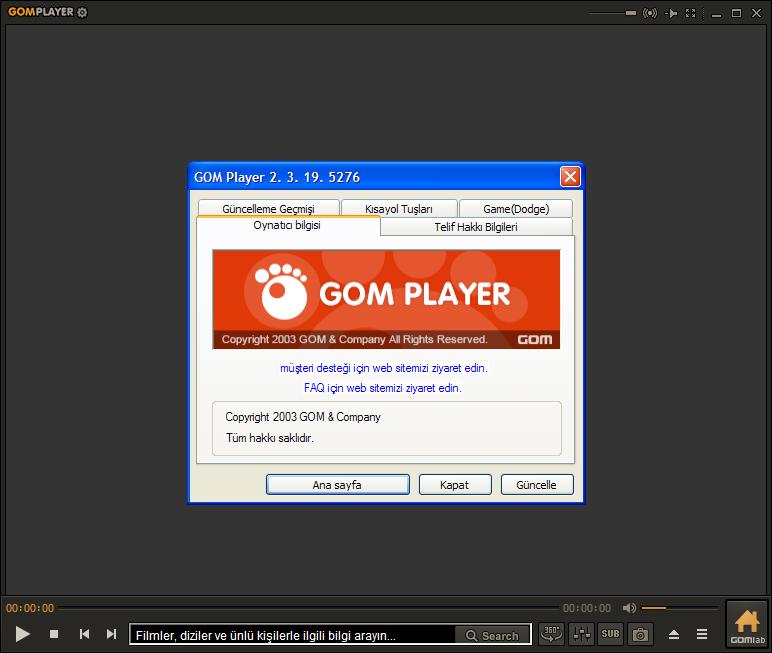GOM Player 2.3.19.5276 Final | Katılımsız
