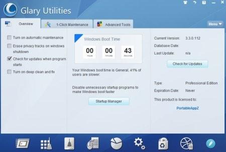 Glary Utilities Pro 5.80.0.101 Portable İndir