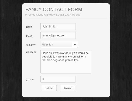 Fancy Contact Form
