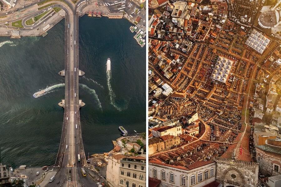 drone ile çekilmiş manzara fotoğrafları
