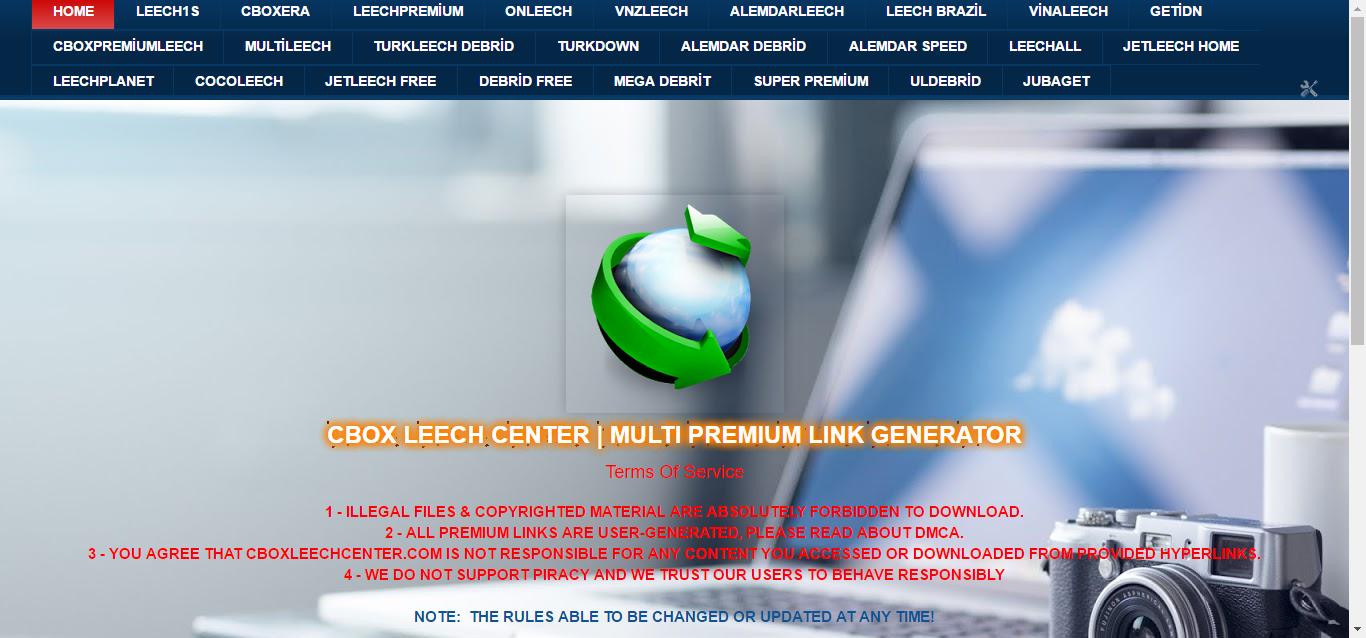 Cbox Leech Center | Multi Premium Link Generator - Hepsi Bir arada