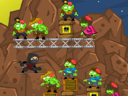 Ninja Zombilere Karşı Oyunu