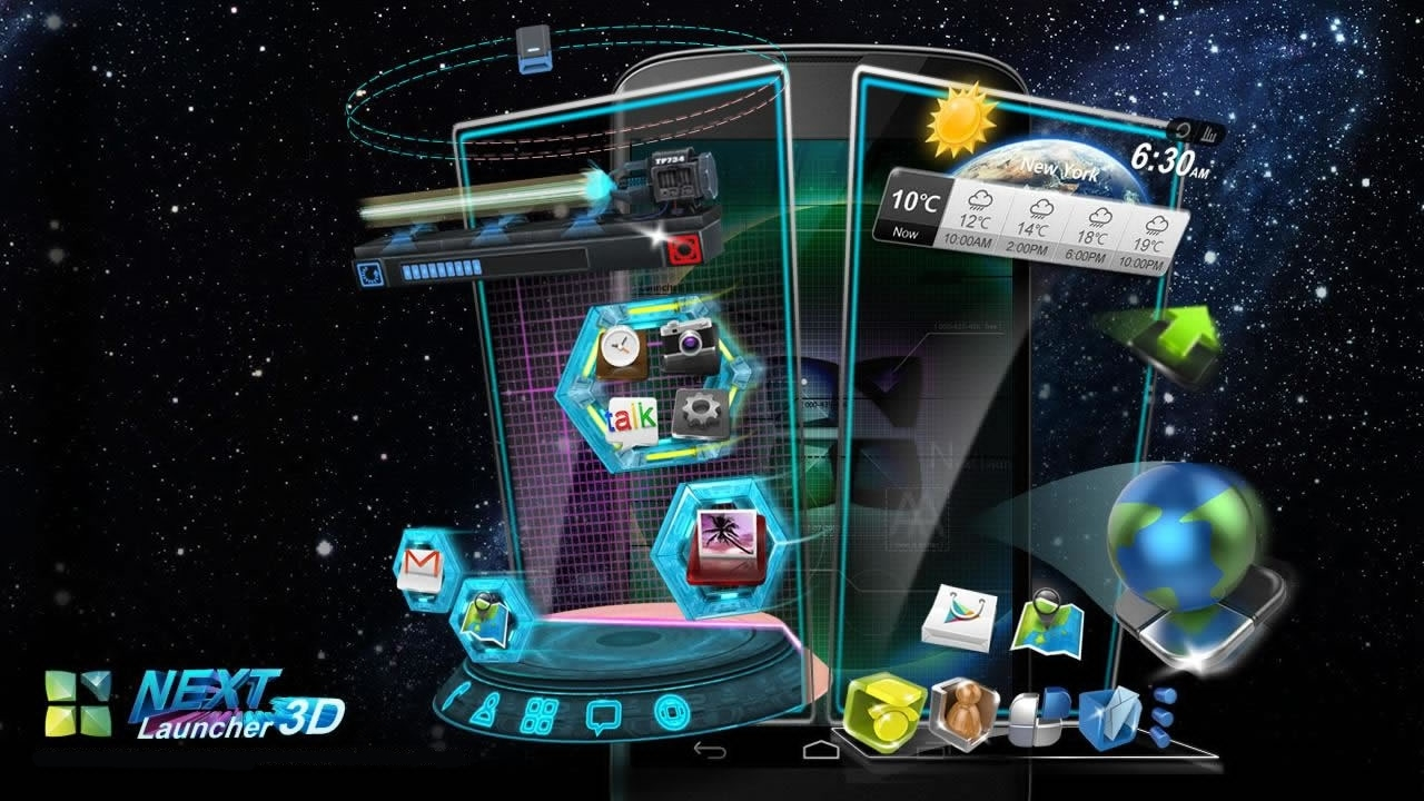 Next Launcher 3D Shell 3.18 + Widget Patch %100 TÜRKÇE