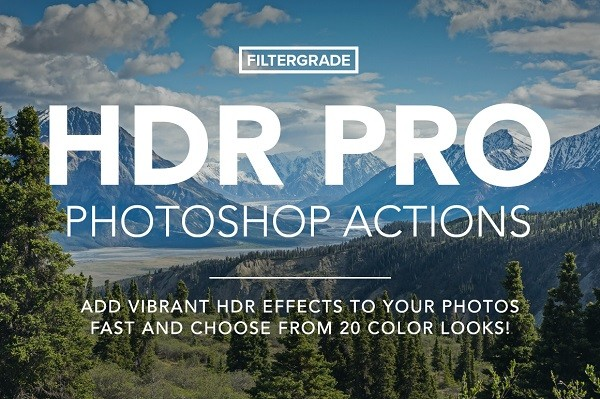 HDR PRO Photoshop Actions+Work Files