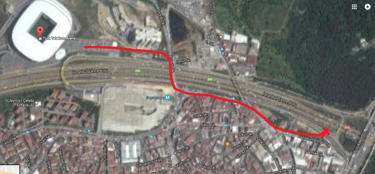 m4v24Y - Türk telekom arena ulaşım..?