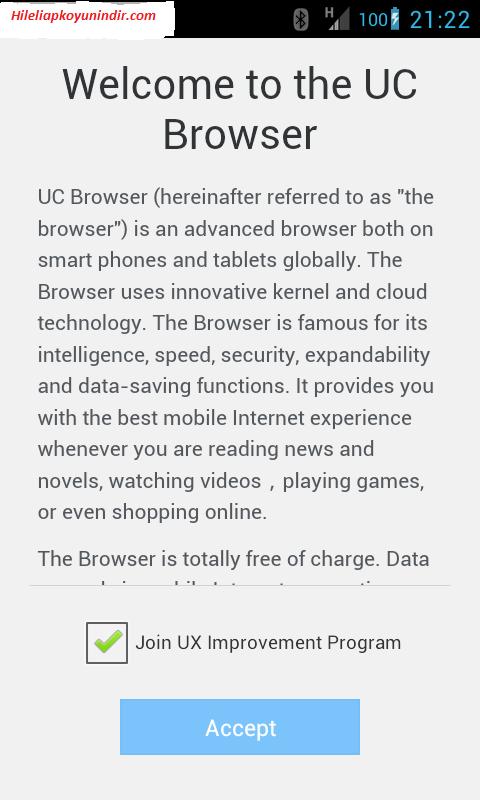 UcWeb Browser Mini v1.0 (Android Bedava İnternet) Apk İndir