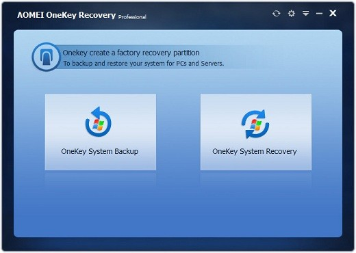 AOMEI OneKey Recovery Professional Full