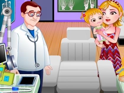 Hazel Bebek Doktorda Oyunu