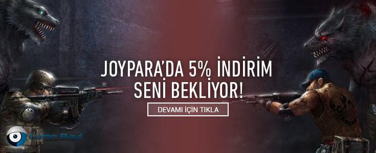 Joypara'da %5 İndirim Seni Bekliyor !
