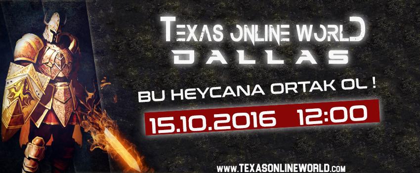 Texas Online World - 15.10.2016 TARİHİNDE ACILIYORRR