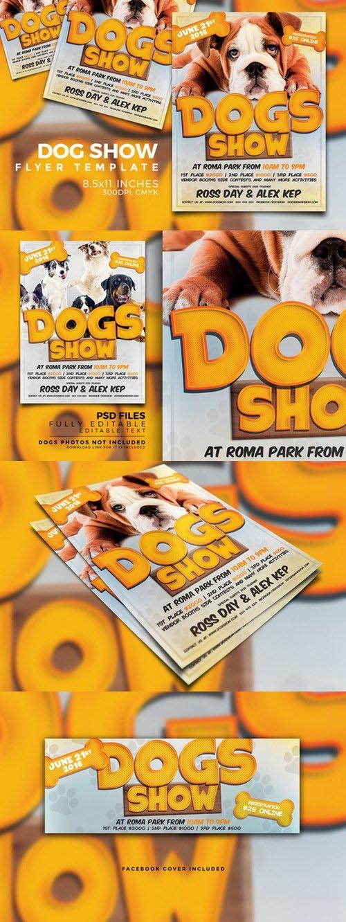 Dog Show Flyer Photoshop Psd Template