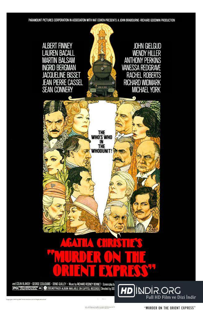 Doğu Ekspresinde Cinayet - Murder on the Orient Express (1974) Türkçe Dublaj HD İndir