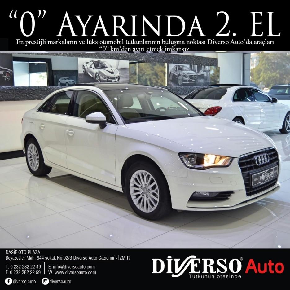 audi a3 a3 sedan 1.6 tdi 2015 model 116.500 tl galeriden satılık
