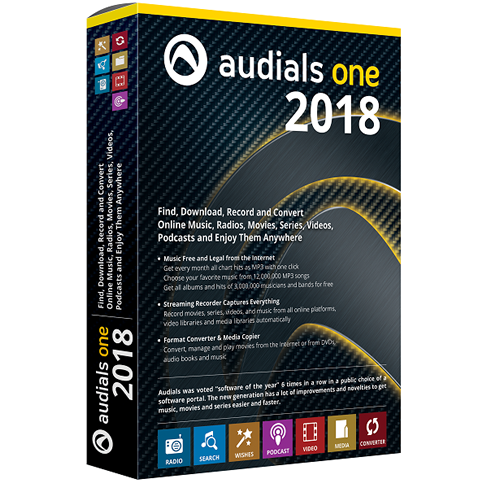 Audials One 2018.1.35100.0 | Katılımsız