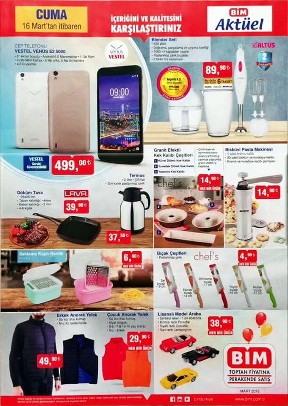 BİM 16 Mart İndirimli Ürünlerin Aktüel Listesi