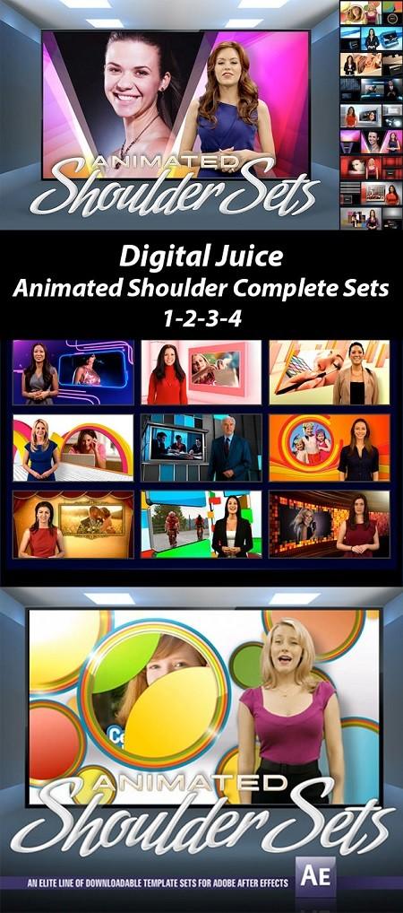 Digital Juice Animated Shoulders Set Complete 1-2-3-4