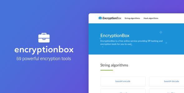 EncryptionBox - Güçlü Şifreleme Scripti indir