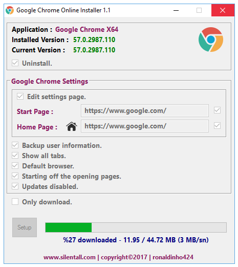 Google Chrome 57 0 2987 110 | nsane down