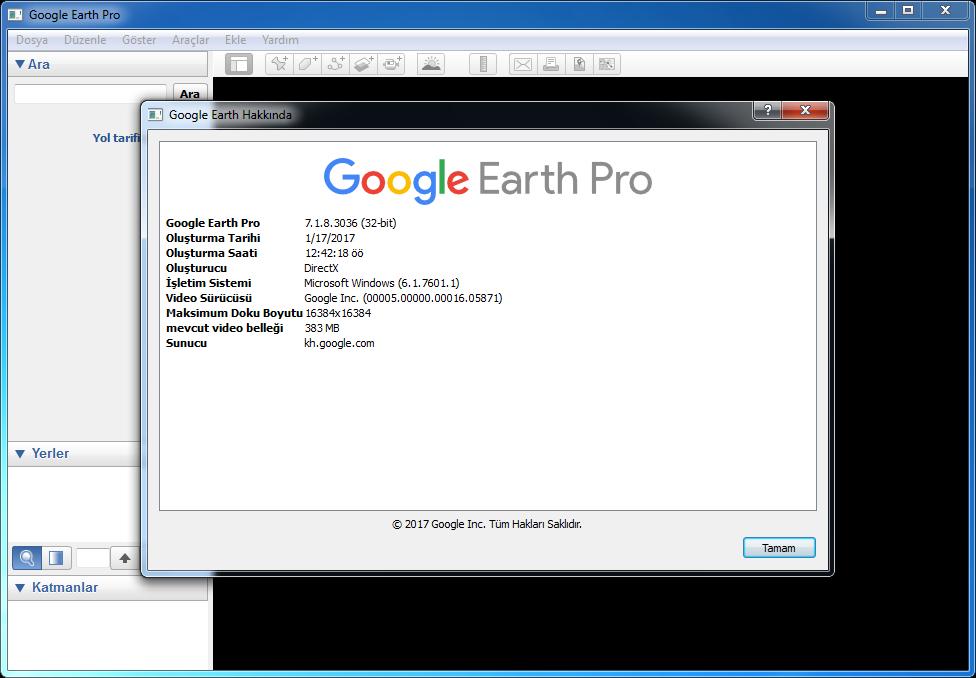 Google Earth Pro 7.3.3.7786   Katılımsız