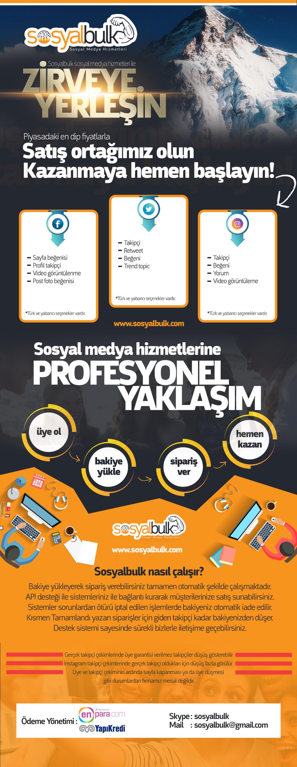 Sosyalbulk.com Instagram Takipçi Ve Tüm Sosyal Medya