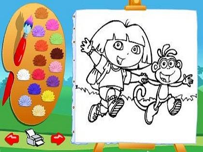 Dora ve Arkadaşları Boyama Oyunu