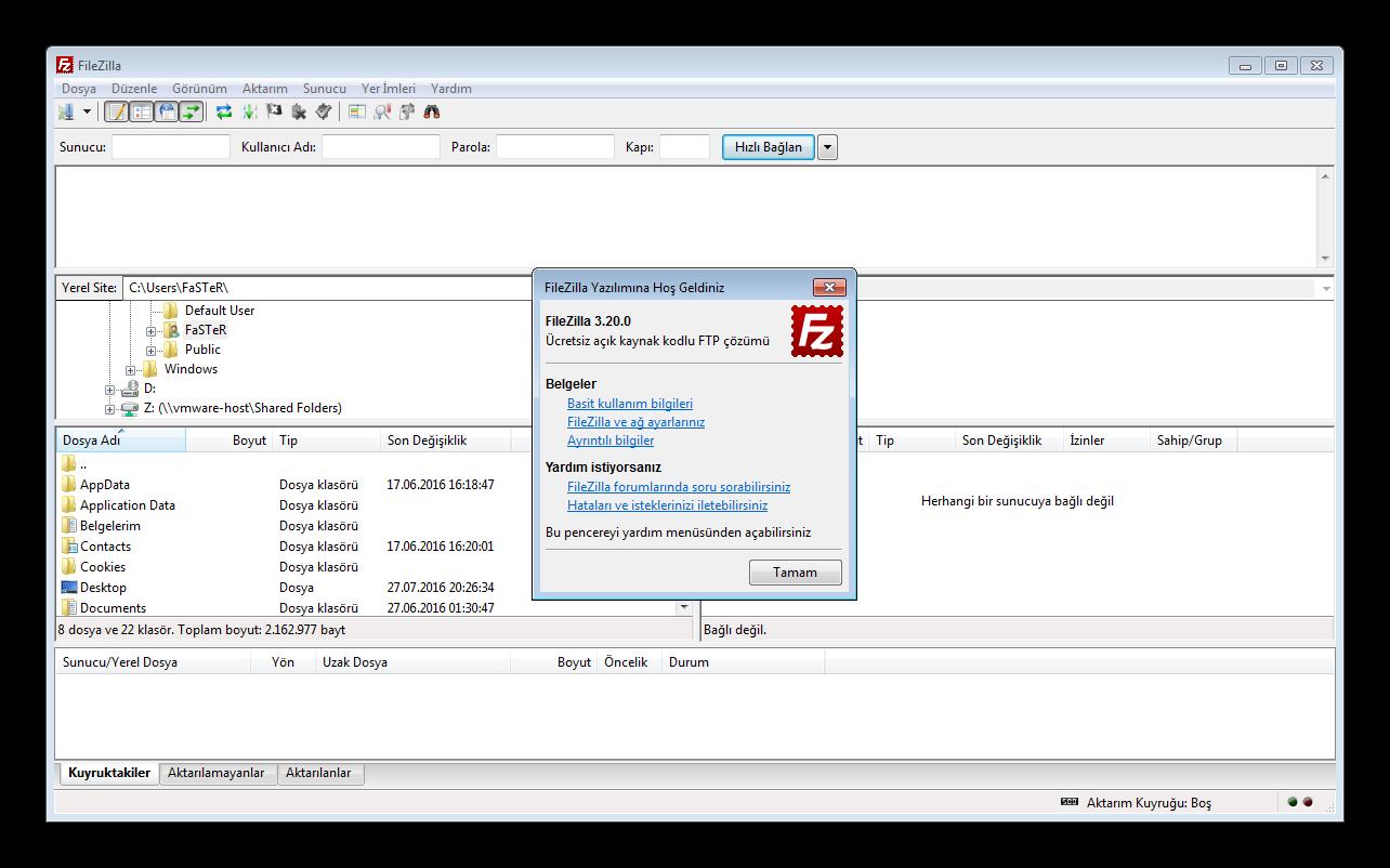 FileZilla 3.20.0 Final TR | Katılımsız