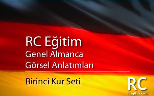 RC Eğitim Genel Almanca Görsel Anlatımları Birinci Kur Seti