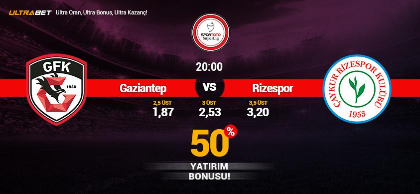 Gaziantep - Ç. Rizespor Canlı Maç İzle