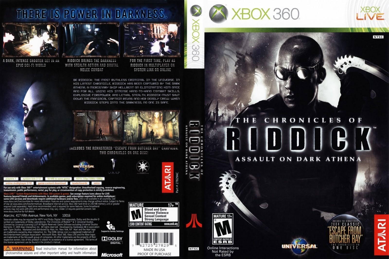 The Chronicles of Riddick Assault on Dark Athena Xbox 360 Oyun İndir [MEGA  FULL ISO PAL] | PC|PS3|PS4|PSP|PSViTA|XBOX360 FULL OYUN İNDİRME SİTESİ