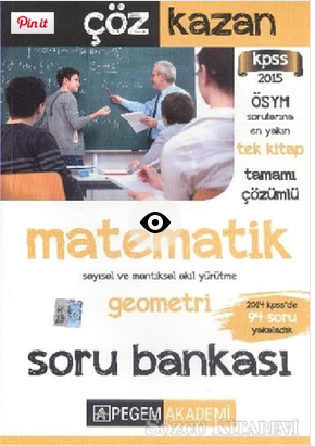 Pegem KPSS Matematik Tamamı Çözümlü Soru Bankası