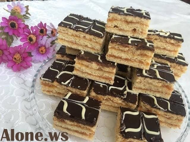 CEMLİ PİROQ. Şəkərli xəmirdən çox dadlı cemli, şokaladli tort.