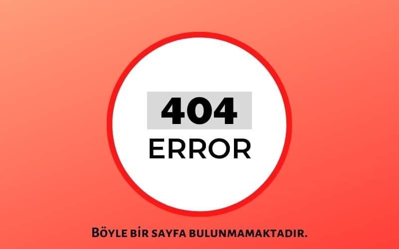 Error 404 Sayfası