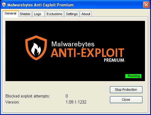 Malwarebytes Anti-Exploit Premium 1.09.1.1235 | Katılımsız