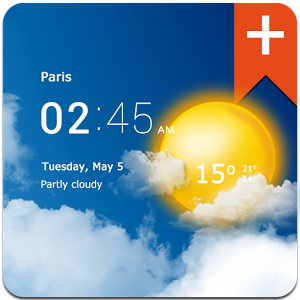 Transparent clock weather Pro v1.26.01 [Paid]