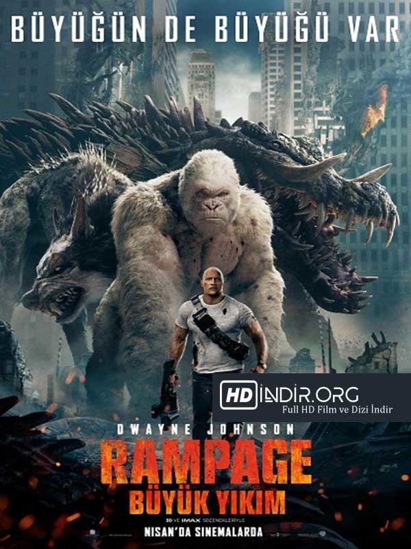 Rampage: Büyük Yıkım (2018) Türkçe Dublaj HD  Tek İndir