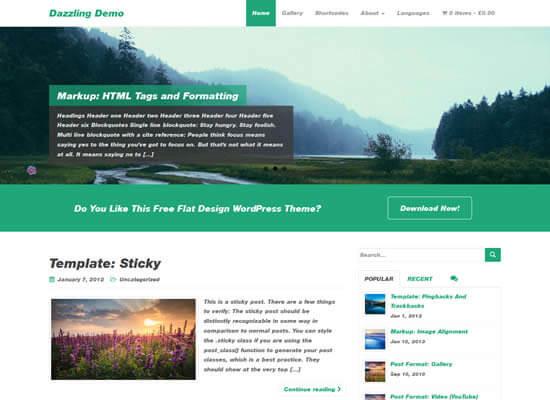 Dazzling Wordpress Teması