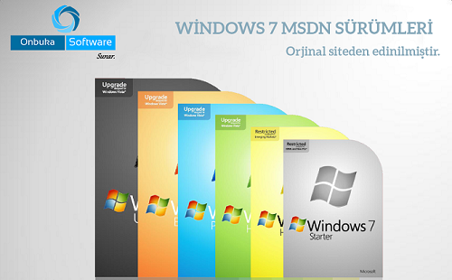 Microsoft Windows 7 ™ Orijinal professional SP1 Türkçe x86 Tek Link İndir