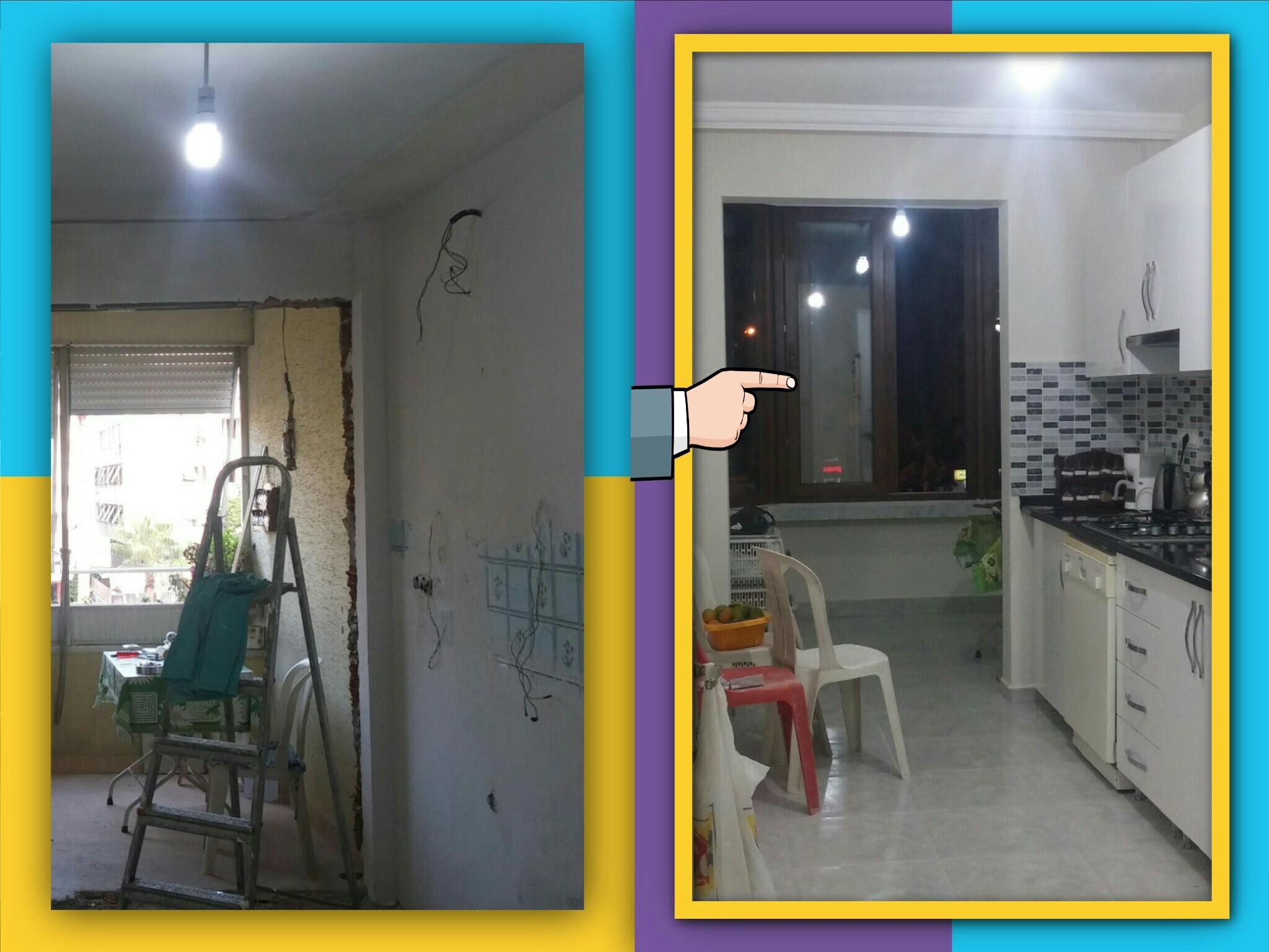 önce ve sonra tadilat