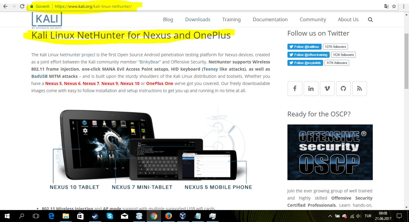 Android Cihazlara Kali Linux Kurmak(nethunter)gerçek!!! Anlatim