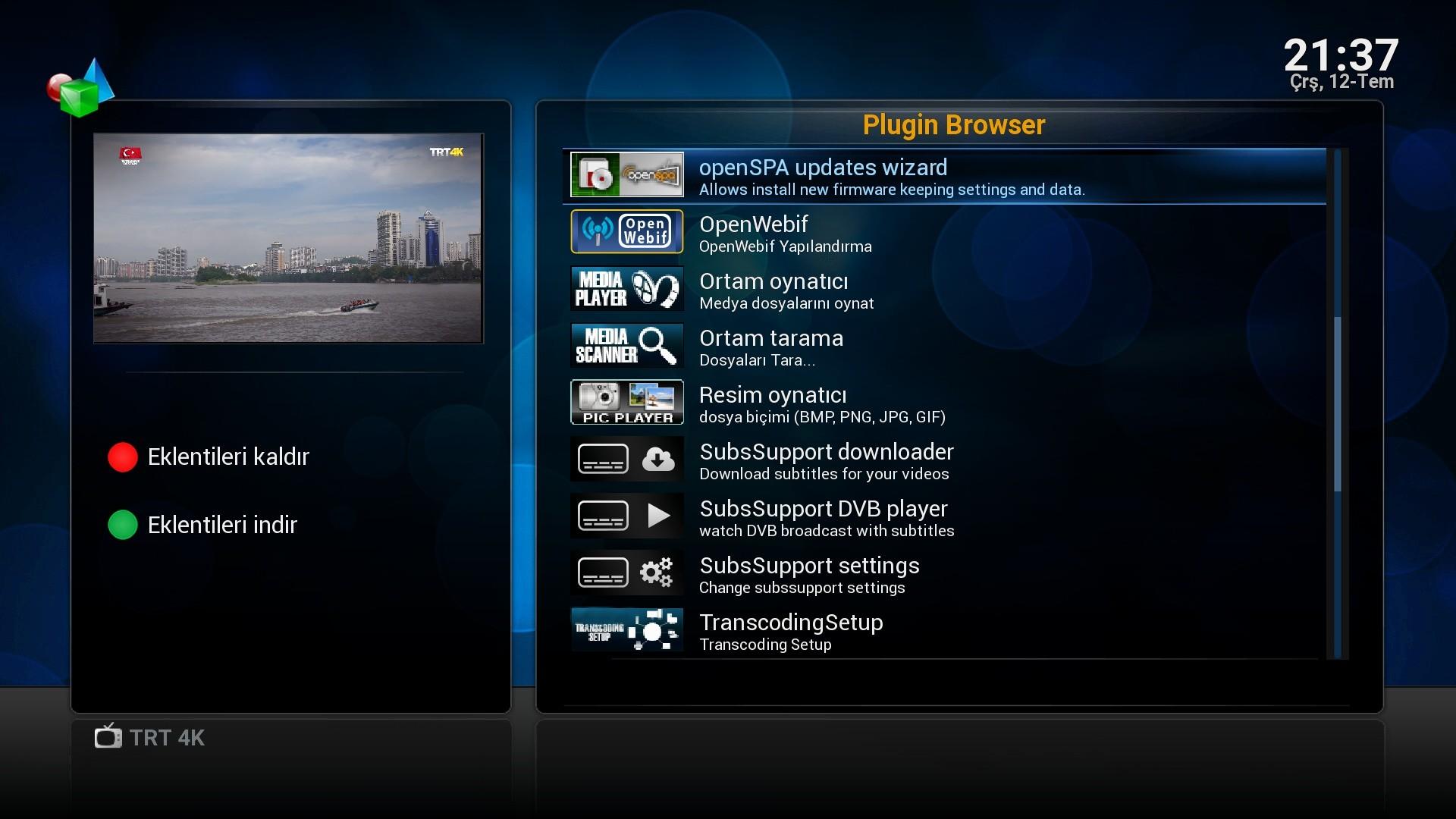 OpenSpa7 Vu+ultimo 4k FurkanB Backup - Vu+ Ultimo 4K Images